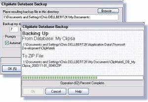 Two aspects of the new backup/restore dialog.